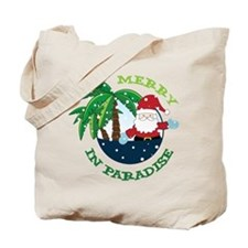 Merry In Paradise Tote Bag