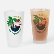 Merry In Paradise Drinking Glass