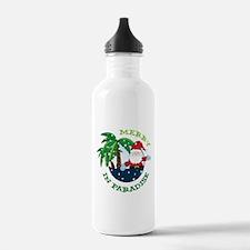 Merry In Paradise Water Bottle