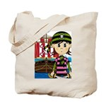 Bandana Pirate and Ship Tote Bag