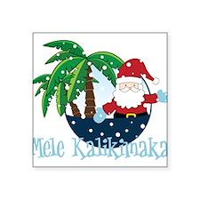 "Mele Kalikimaka Square Sticker 3"" x 3"""