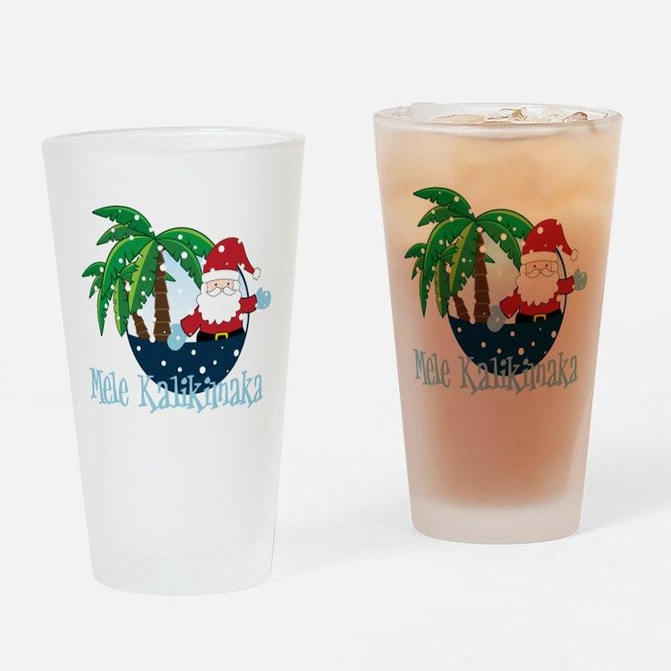 Mele Kalikimaka Drinking Glass
