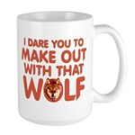 I Dare You Wolf Make-out Large Mug