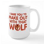 I Dare You Wolf Make-out Large Mug