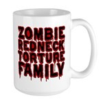 Zombie Redneck Torture Family Large Mug