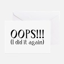 Oops! I did it again... Greeting Cards (Package of