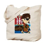 Eyepatch Pirate and Ship Tote Bag