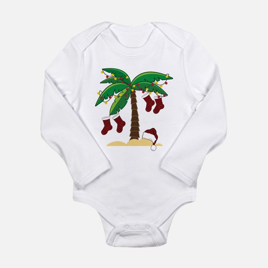 Tropical Christmas Long Sleeve Infant Bodysuit
