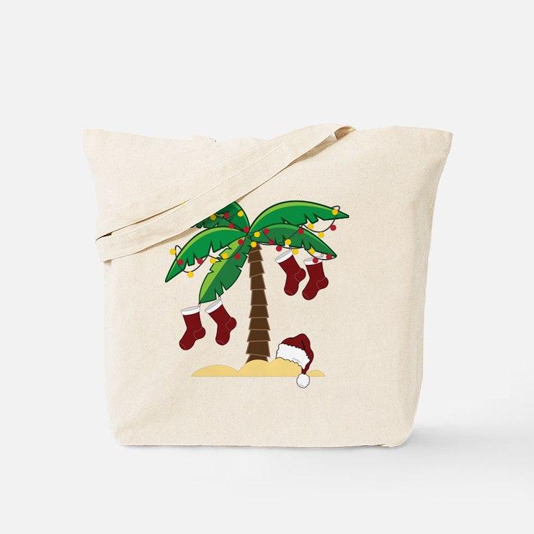 Tropical Christmas Tote Bag