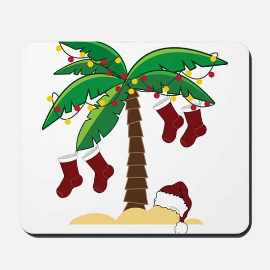 Tropical Christmas Mousepad