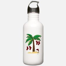 Tropical Christmas Water Bottle