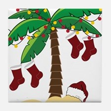 Tropical Christmas Tile Coaster