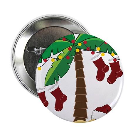 "Tropical Christmas 2.25"" Button"