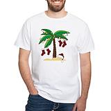 Christmas tropical Mens White T-shirts