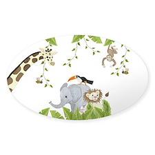 Jungle Animal Sticker (Oval)