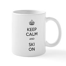 Keep Calm and Ski On Mug