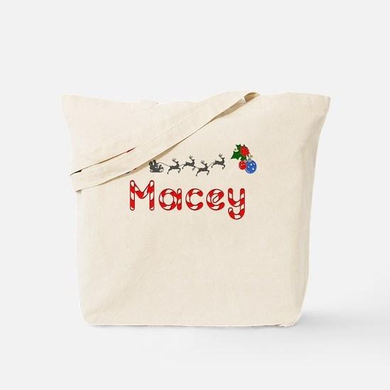 Macey, Christmas Tote Bag
