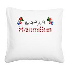 Macmillan, Christmas Square Canvas Pillow