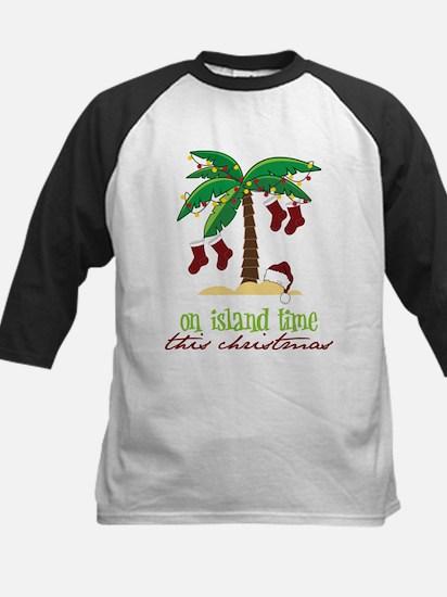 On Island Time Kids Baseball Jersey