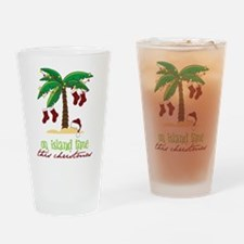 On Island Time Drinking Glass