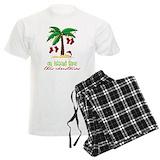 Christmas hawaiian palm tree Men's Light Pajamas