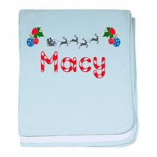 Macy, Christmas baby blanket
