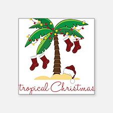 """Tropical Christmas Square Sticker 3"""" x 3"""""""