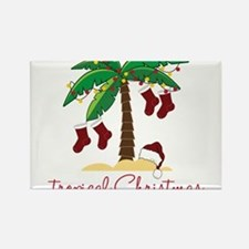 Tropical Christmas Rectangle Magnet