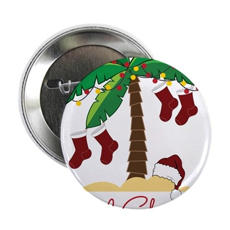 "Tropical Christmas 2.25"" Button"