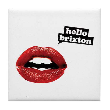 Hello Brixton Tile Coaster