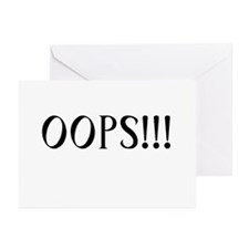 Oops!!! Greeting Cards (Pk of 10)