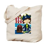 Pirate Captain and Ship Tote Bag