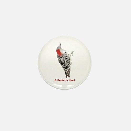 A Pecker's Head Mini Button