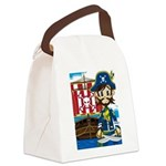 Pirate Captain and Ship Canvas Lunch Bag