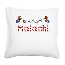 Malachi, Christmas Square Canvas Pillow