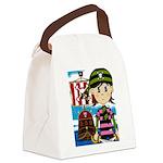 Bandana Pirate and Ship Canvas Lunch Bag