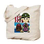 Bandana Pirate and Ship Tote Bag