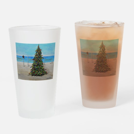 Christmas Tree at the Beach Drinking Glass