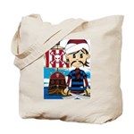 Turban Pirate and Ship Tote Bag