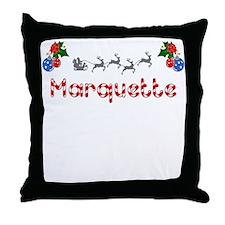 Marquette, Christmas Throw Pillow