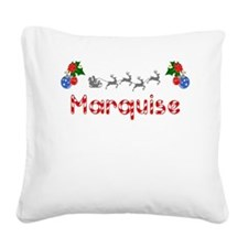 Marquise, Christmas Square Canvas Pillow