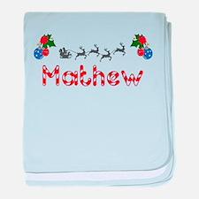 Mathew, Christmas baby blanket
