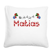 Matias, Christmas Square Canvas Pillow