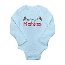 Matias, Christmas Long Sleeve Infant Bodysuit