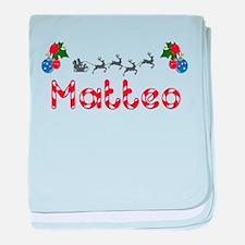 Matteo, Christmas baby blanket