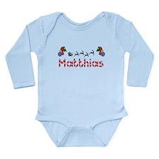 Matthias, Christmas Long Sleeve Infant Bodysuit