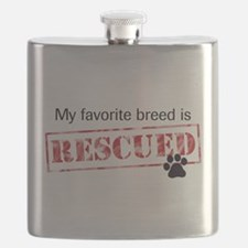 My Favorite Breed Is Rescued Flask
