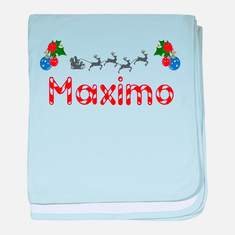 Maximo, Christmas baby blanket