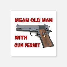 """GUN PERMIT Square Sticker 3"""" x 3"""""""