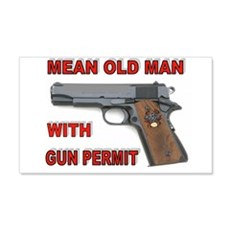 GUN PERMIT Wall Decal